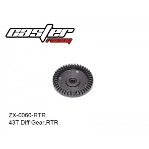 ZX-0060-RTR  43T Diff Gear,RTR
