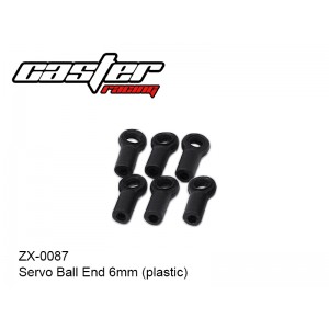 ZX-0087  Servo Ball End  6mm  (plastic)