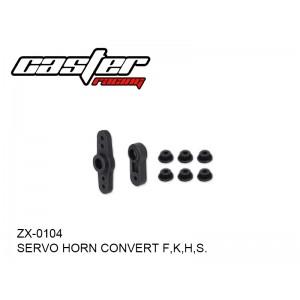 ZX-0104  SERVO HORN CONVERT F,K,H,S.