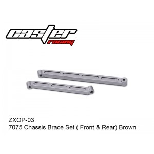 ZXOP-03  7075 Chassis Brace Set ( Front & Rear) Brown