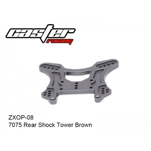 ZXOP-08  7075 Rear Shock Tower Brown