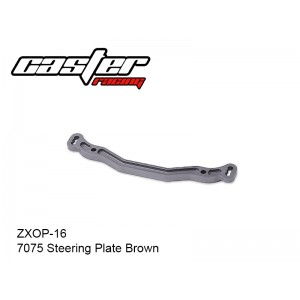 ZXOP-16  7075 Steering Plate Brown