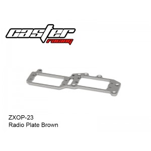 ZXOP-23  Radio Plate Brown