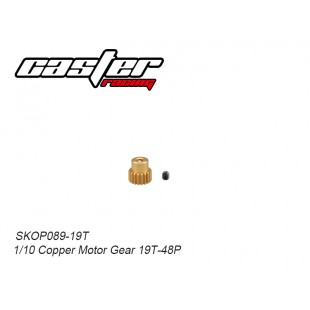 SKOP089-19T 1/10 Copper Motor Gear 19T-48P