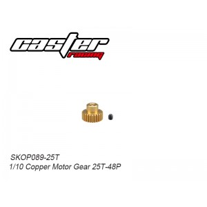 SKOP089-25T 1/10 Copper Motor Gear 25T-48P