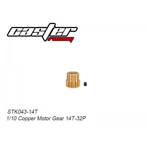 STK043-14T 1/10 Copper Motor Gear 14T-32P