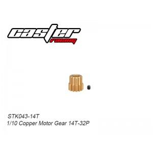 STK043-14T 1/10 Copper Motor Gear 14T-32P