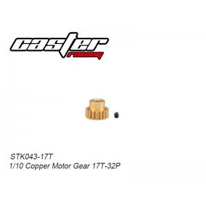 STK043-17T 1/10 Copper Motor Gear 17T-32P