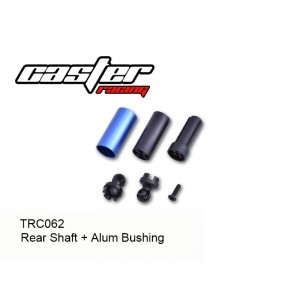 TRC062  TRC104 Rear Shaft + Alum Bushing