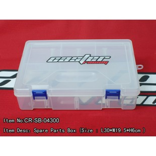 CR-SB-04300  Spare Parts Box (Size : L30*W19.5*H6cm )