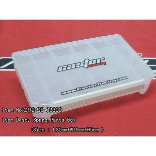 CR2-SB-03300   Spare Parts Box (Size : L30cm*W19cm*H5cm )