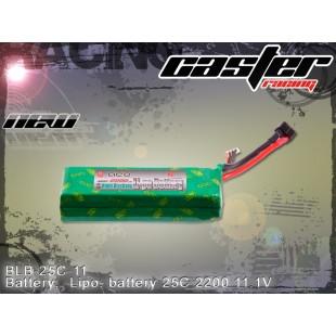 BLB-25C-11   Battery:  Lipo: battery 25C 2200 11.1V