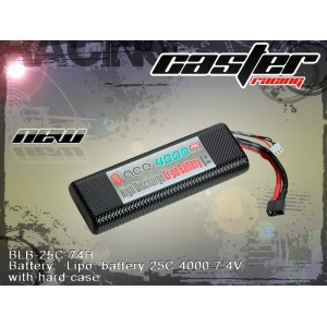 BLB-25C-74H   Battery:  Lipo: battery 25C 4000 7.4V with hard case