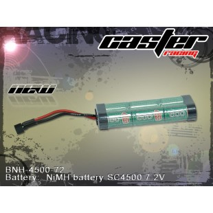 BNH-4500-72  Battery:  NiMH : battery SC4500 7.2V