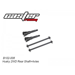 B102-008 Husky 2WD Rear Shaft+Axles
