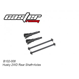 B102-008 Husky 2WD Rear Shaft + Axles