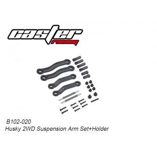 B102-020 Husky 2WD Suspension Arm Set+Holder