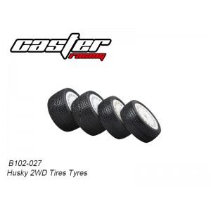 B102-027 Husky 2WD Preglue Tyres Set (Front & Rear)