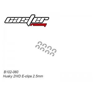 B102-060 Husky 2WD E-clips 2.5mm