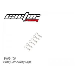 B102-108 Husky 2WD Body Clips