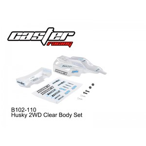 B102-110 Husky 2WD Clear Body Set