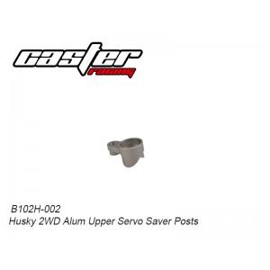 B102H-002 Husky 2WD Alum Upper Servo Saver Posts