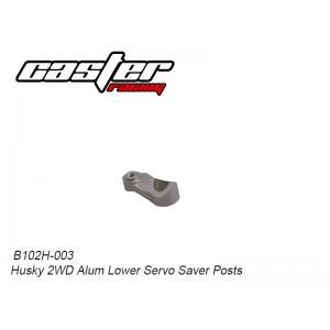 B102H-003 Husky 2WD Alum Lower Servo Saver Posts