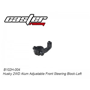 B102H-004 Husky 2WD Alum Adjustable Front Steering Block-Left