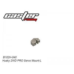 B102H-040 Husky 2WD PRO Servo Mount-L
