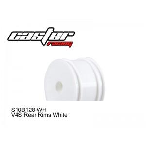 S10B128-WH  V4S Rear Rims White