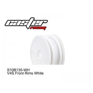 S10B135-WH  V4S Front Rims White