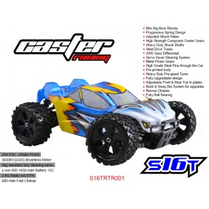 S16TRTR001   1/16 EP off road Truggy 4WD - RTR BRUSHLESS SYSTEM