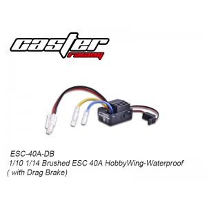 ESC-40A-DB 1/10 1/14 Brushed ESC 40A HobbyWing-Waterproof ( with Drag Brake)