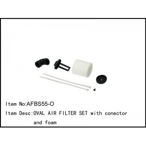 AFBS55-O  OVAL AIR FILTER SET with connector and foam