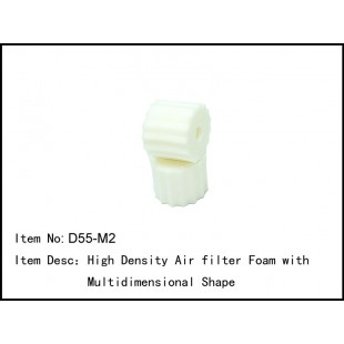 D55-M2  High Density Air filter Foam with Multidimensional Shape
