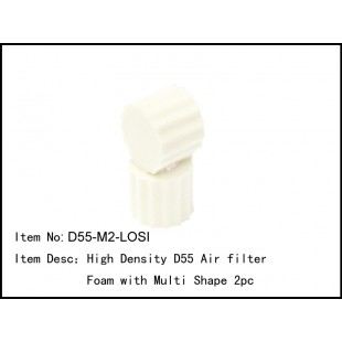 D55-M2-LOSI  High Density D55 Air filter Foam with Multi Shape 2pc