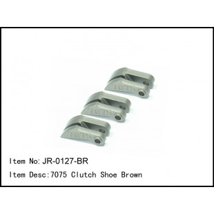 JR-0127-BR  7075 Clutch Shoe Brown