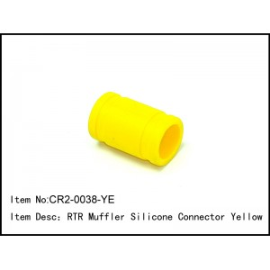 CR2-0038-YE  RTR Muffler Silicone Connector Yellow