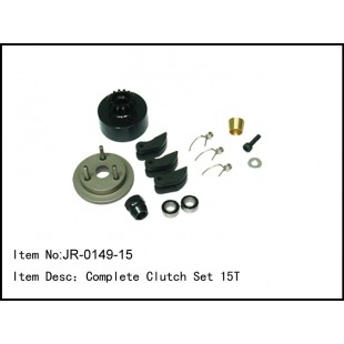 JR-0149-15  Complete Clutch Set 15T