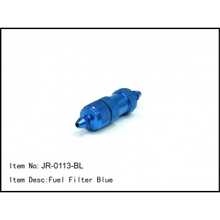 JR-0113-BL  Fuel Filter Blue