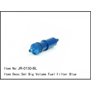 JR-0130-BL  5ml Big Volume Fuel Filter Blue