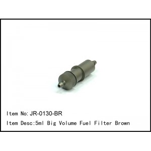 JR-0130-BR  5ml Big Volume Fuel Filter Brown