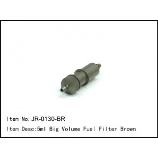 JR-0130-BR  5ml Big Volume Fuel Filter Brown