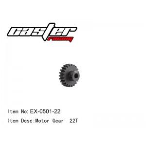 EX-0501-22 Motor Gear 22T