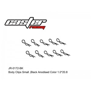 JR-0172-BK Body Clips Small,Anodised Color