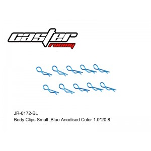 JR-0172-BL  Body Clips Small,Bule Anodised Color