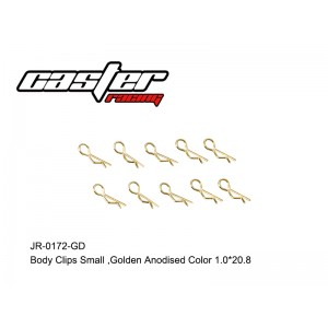 JR-0172-GD Body Clips Small,Golden Anodised Color