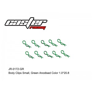 JR-0172-GR Body Clips Small,Green Anodised Color