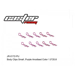 JR-0172-PU Body Clips Small,Purple Anodised Color