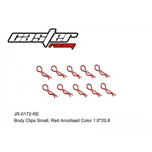 JR-0172-RE  Body Clips Small,Red Anodised Color